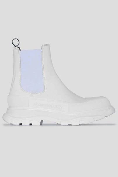 ALEXANDER MCQUEEN: White Ankle Boots