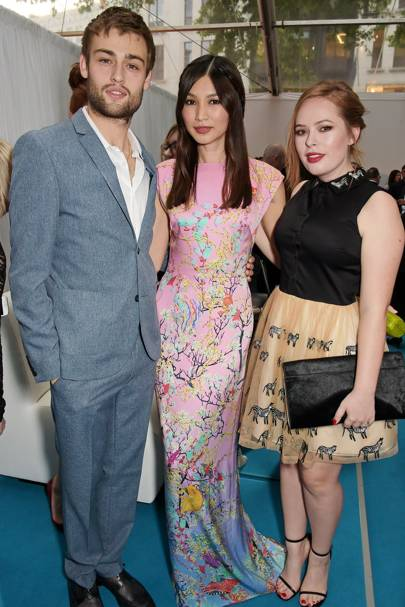 Douglas Booth, Gemma Chan and Tanya Burr