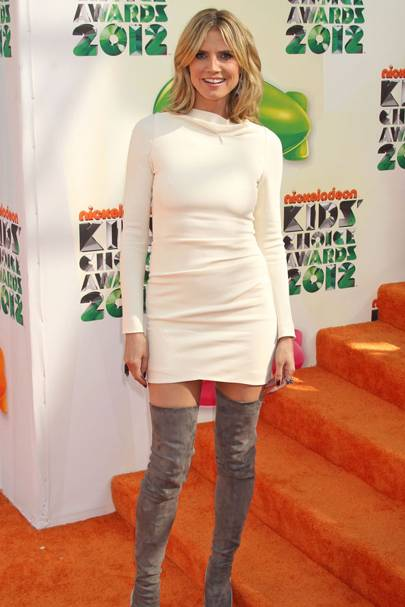 Heidi Klum at the Kids' Choice Awards 2012