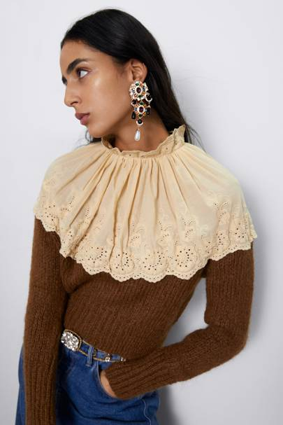 The embroidered sweater