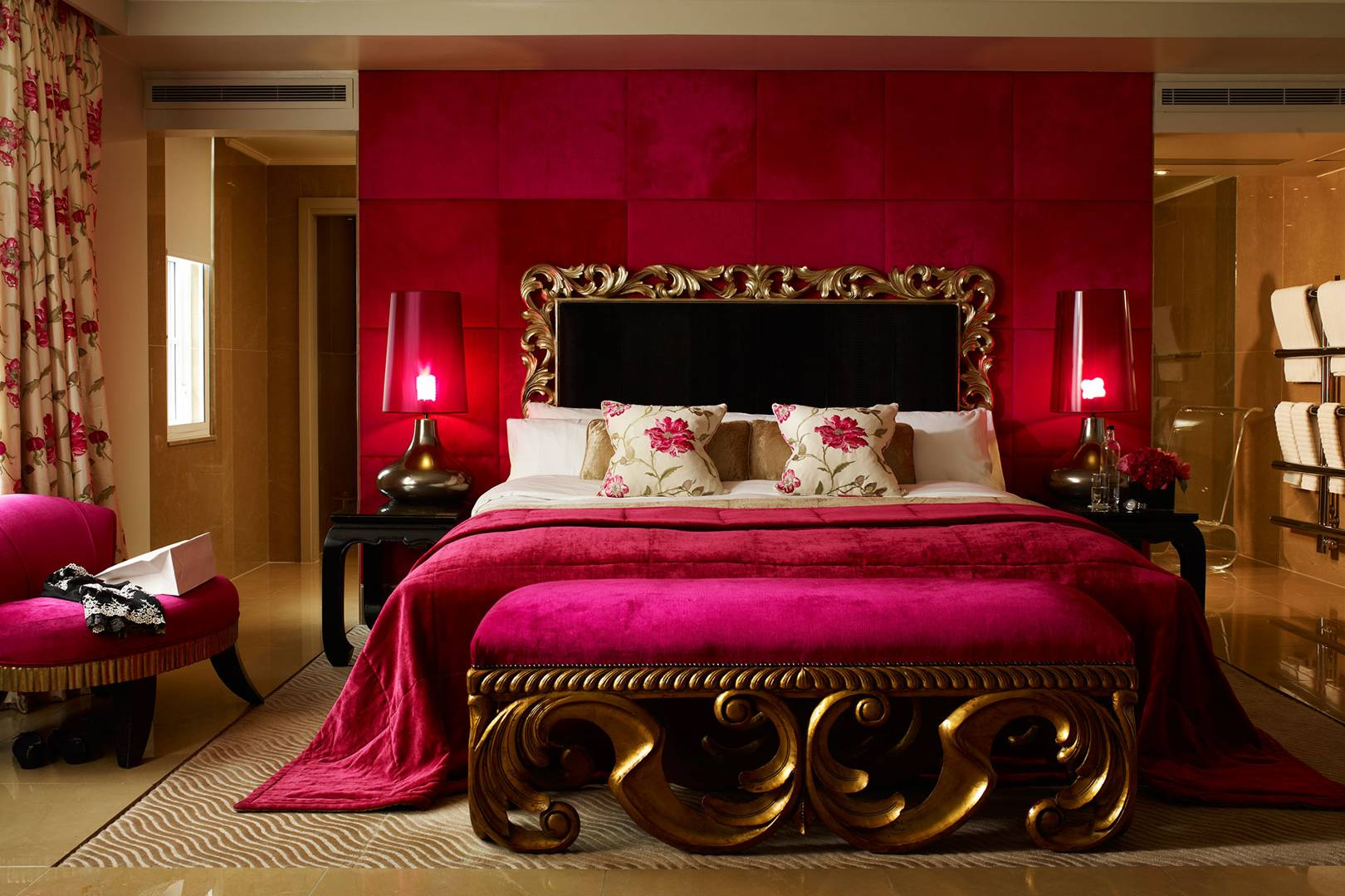 pink places around the world hotels bars cafes sketch london glamour uk