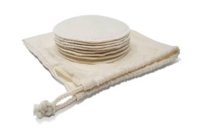 Organic cotton reusable makeup remover pads