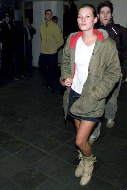 Kate Moss in pirate boots