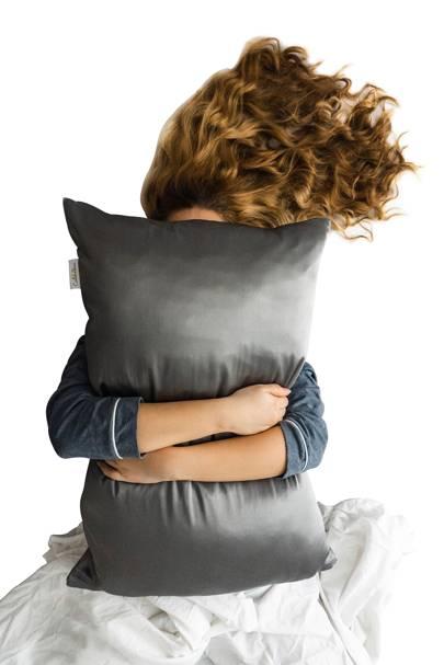 Charcoal Silk Pillowcase by Calidad Home