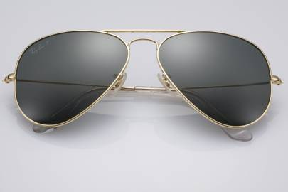 ray ban expensive sunglasses  Ray-Ban solid gold sunglasses expensive - fashion news