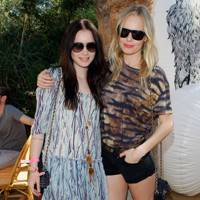 Lily Collins and Kate Bosworth at Coachella 2012
