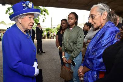 The Queen & Prince William visit Grenfell Tower residents – before Theresa May