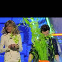 Heidi Klum and Chris Colfer at the Kids' Choice Awards 2012