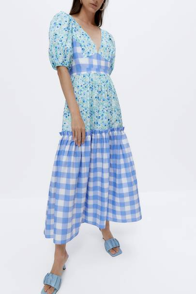 SUMMER DRESSES FOR BIG BOOBS: The Print-Clash Dress