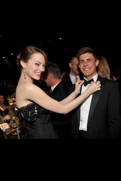 Emma Stone and Chris Lowell at the SAGs 2012