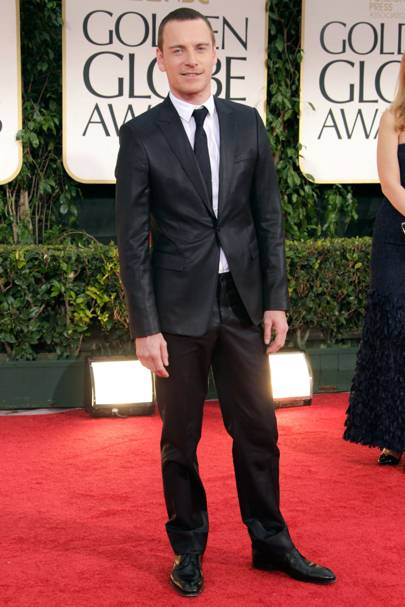 Michael Fassbender at the Golden Globes 2012