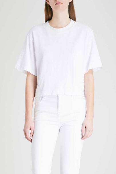 Best cropped white t-shirt