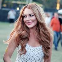 Lindsay Lohan at Coachella 2012