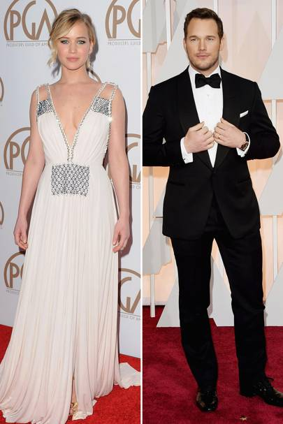 Glamour: Jennifer Lawrence & Chris Pratt