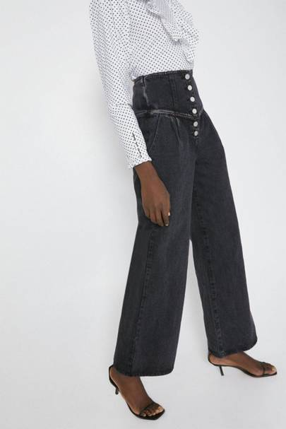 Best High-Waisted Jeans Black: Warehouse