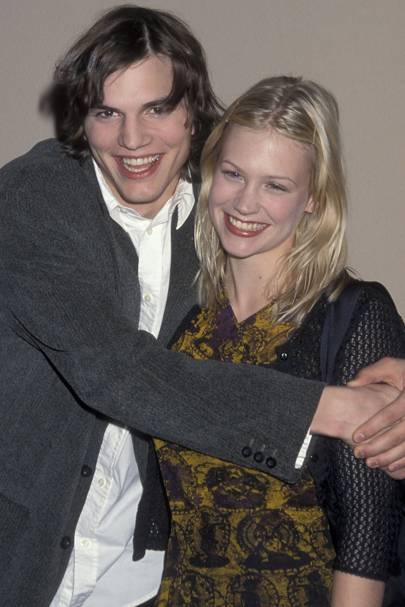 January Jones and Ashton Kutcher
