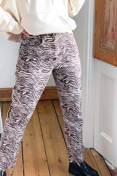 Zebra Print Trousers - Reclaimed Vintage
