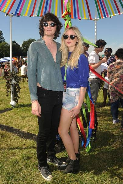 Diana Vickers and George Craig in the Virgin Media Louder Lounge 2012