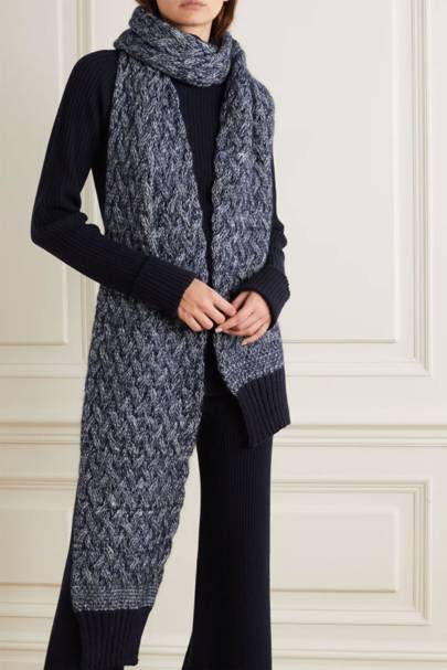 Best cable-knit scarf
