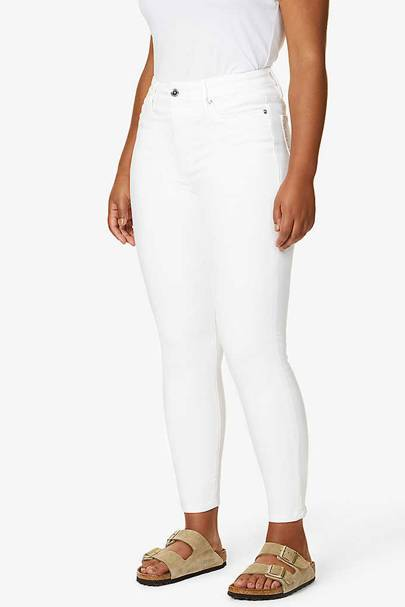 Best Jeans For Curvy Women: White Jeans