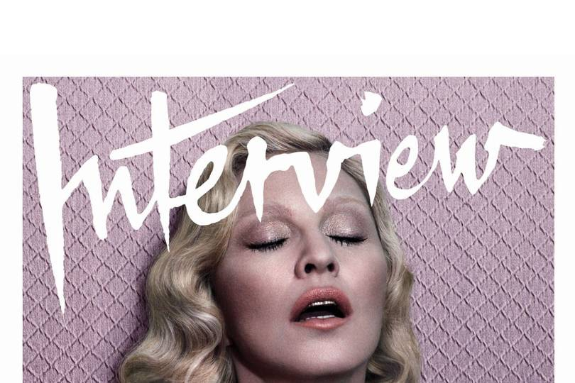 Madonna Poses Topless For Interview Magazine  Glamour Uk-2192