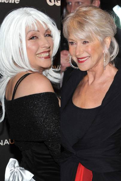 Helen Mirren and Debbie Harry