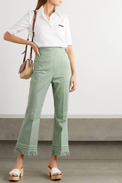 Best Gingham Trousers - Miu Miu
