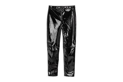 At £29 these PVC trousers are a steal. Having noticed them on fashion editors in London we can confirm these are a flattering cut (not to tight). They'd also work well with a white shirt and pointed pixie boots.