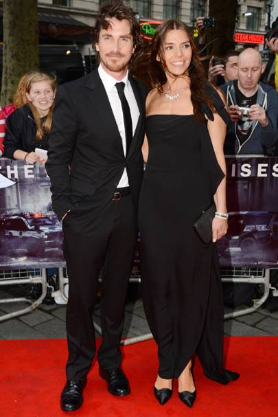 Christian Bale and wife Sibi Blazic at The Dark Knight Rises premiere
