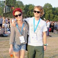 Jaime Winstone and Alfie Allen at Barclaycard British Summertime