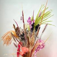 Dried flowers for a pop of colour
