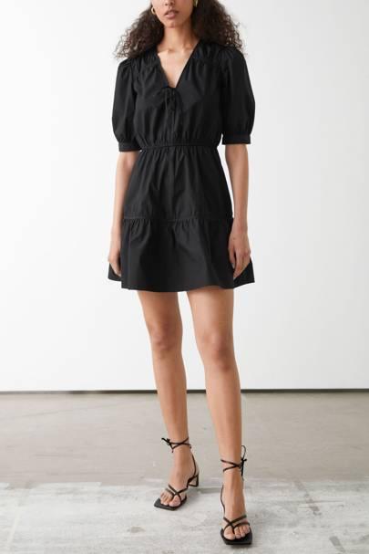 & Other Stories Sale Black Mini Dress