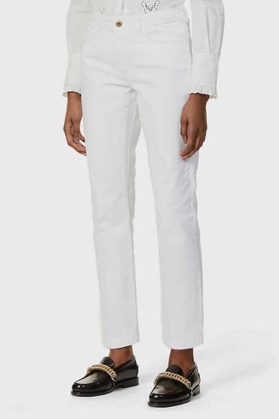 Best straight leg jeans: White denim