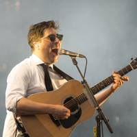 Mumford & Sons perform at the Olympic Park in London