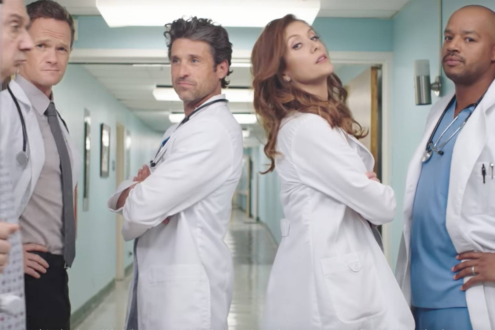 Grey\'s Anatomy Reunion: Kate Walsh & Patrick Dempsey | Glamour UK