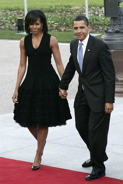 Who Michelle When 2009 Where With Us President Husband Barack At The Nato Summit Kurhaus Baden Germany Which Marked
