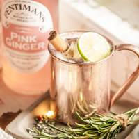 Pink Pear Mule at Fentimans Pink Gingerbread House