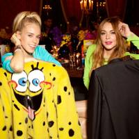 Mary Charteris & Lindsay Lohan