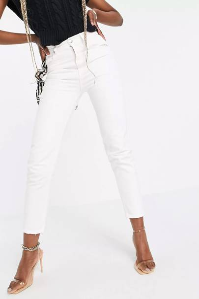 Tall white jeans