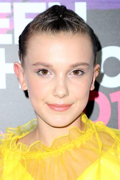 Millie Bobby Brown's pastel eye makeup