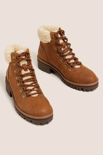M&S Boot Sale: The Shearling Hiking Boot