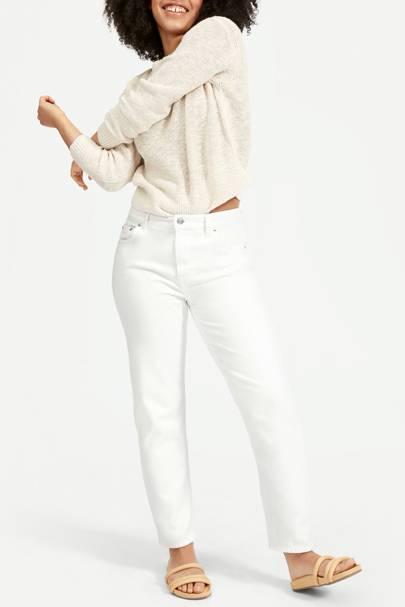 Best white boyfriend jeans
