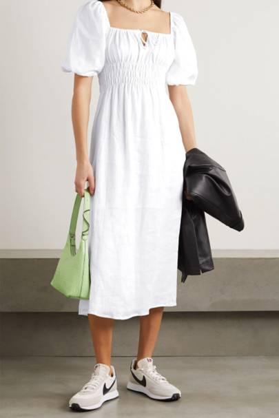 White summer dresses: Faithful The Brand summer dresses