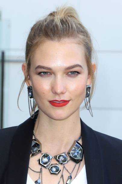 Big earrings celebrities wearing the chandelier style glamour uk the model jumped on the chandelier earring trend when she wore this stunning pair to a swarovski store opening mozeypictures Image collections