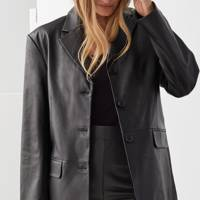 Leather coats: the blazer