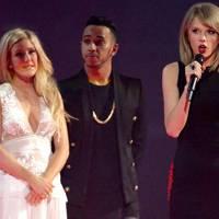 Ellie Goulding, Lewis Hamilton & Taylor Swift
