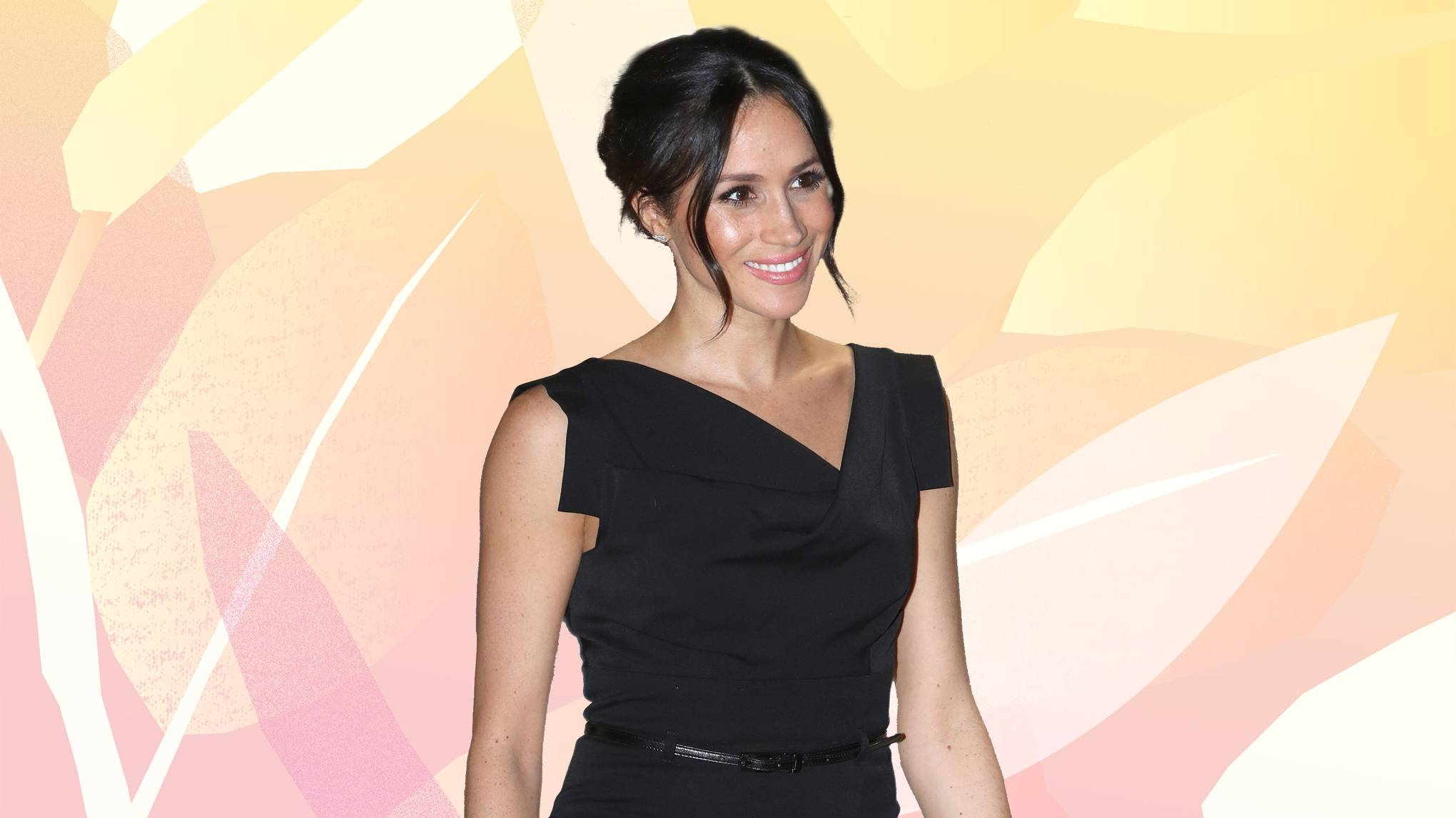 2b1139793ed Meghan Markle s Black Dress Looks Familiar For This Unexpected Reason