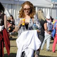 Lily Cole at Glastonbury