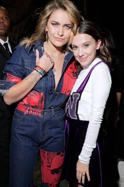 Paris Jackson and Millie Bobby Brown