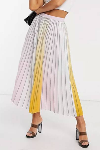BEST PLEATED SKIRTS: OMBRE